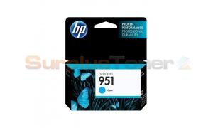 HP OFFICEJET NO 951 INK CARTRIDGE CYAN (CN050AE#BGY)