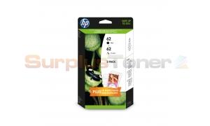 HP NO 62 INK CART BLACK/COLOR VALUE PACK (J3M80AE)