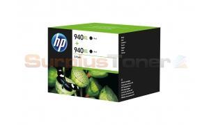 HP NO 940XL INK CARTRIDGE BLACK 2-PACK (D8J48AE)