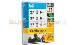 HP 27/27/22 INK CARTRIDGE BLACK/TRI-COLOR 3PK (CB330BN)