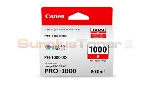 CANON PFI-1000 R INK TANK RED (0554C002[AA])