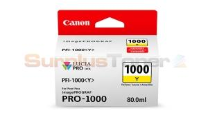 CANON PFI-1000Y INK TANK YELLOW (0549C002[AA])