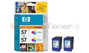 HP NO 57 INKJET CART TRI-COLOUR TWIN PACK (C9503AE)