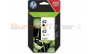 HP 62 INK CTG BLACK/TRI-COLOR 2PACK (N9J71AE)