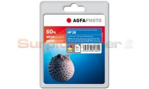 HP 28 INK CARTRIDGE TRI-COLOR AGFAPHOTO (APHP28C)