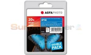 HP 56 DESKJET 450-CI INK CARTRIDGE BLACK AGFAPHOTO (APHP56BDUO)