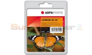 LEXMARK NO 16 INK CARTRIDGE BLACK AGFAPHOTO (APL16B)
