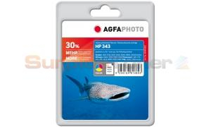 HP 343 INKJET PRINT CARTRIDGE TRI-COLOR AGFAPHOTO (APHP343C)