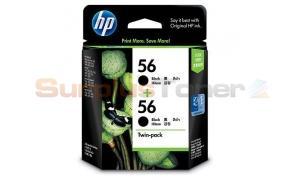 HP 56 INK CARTRIDGE BLACK TWIN PACK (CC620AA)
