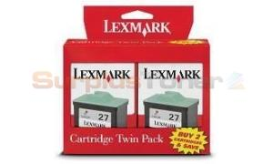LEXMARK NO.27 INK CARTRIDGE COLOR TWIN PACK (TPANZ06)