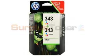 HP 343 INKJET PRINT CART TRI-COLOR 2-PACK (CB332EE#ABD)