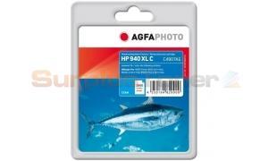 HP 940XL INK CARTRIDGE CYAN AGFAPHOTO (APHP940CXL)