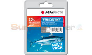 HP 940XL INK CMYK COMBO PACK AGFAPHOTO (APHP940SETXL)