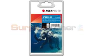 HP NO 62XL INK CARTRIDGE BLACK HY AGFAPHOTO (APHP62BXL)