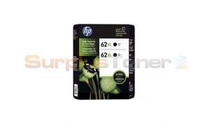 HP NO 62XL INK CARTRIDGE BLACK 2PACK (J3P42BN)