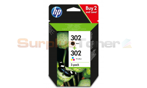 HP 302 INK CARTRIDGE BLACK/COLOR 2 PACK (X4D37AE)