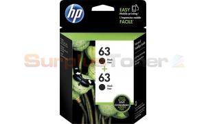 HP 63 INK CARTRIDGE BLACK TWIN-PACK (T0A53AN)