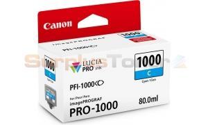CANON PFI-1000C INK TANK CYAN (0547C003[AA])