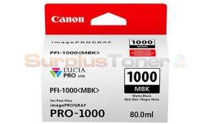 CANON PFI-1000 MBK INK TANK MATTE BLACK (0545C003[AA])