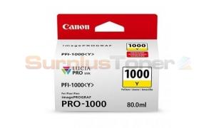 CANON PFI-1000Y INK TANK YELLOW (0549C003[AA])