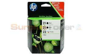 HP 21 22 INK CTG BLACK/COLOR COMBO PACK (CB311BC)
