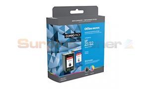 HP 21/22 INK CART CMYK COMBO PACK OFFICE DEPOT (OD22122)