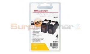HP 338 INK CARTRIDGE BLACK 2-PACK OFFICE DEPOT (1477581)