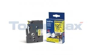 BROTHER TZ EXTRA-STRENGTH TAPE BLACK/YELLOW 1/2IN (TZ-S631)