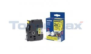 BROTHER TZ EXTRA-STRENGTH TAPE BLACK/YELLOW 1IN (TZ-S651)