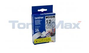 BROTHER TZ LAMINATED TAPE BLACK ON CLEAR 0.47 IN X 26.2 FT (TZ-131)