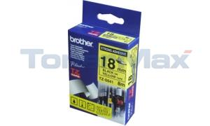 BROTHER TZ EXTRA-STRENGTH TAPE BLACK/YELLOW 3/4IN (TZ-S641)
