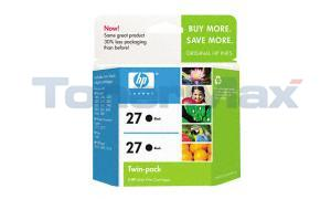 HP 27 PRINT CARTRIDGE BLACK TWINPACK (C9322BN#140)
