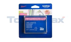 BROTHER TZ LAMINATED TAPE WHITE ON BERRY PINK 12 MM X 5 M (TZE-MQP35)