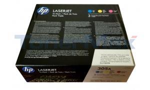 HP 305A TONER CARTRIDGES CMY (CF370AM)