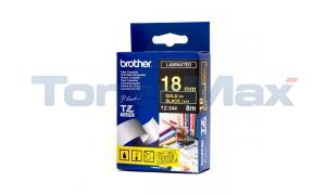 BROTHER P-TOUCH TAPE GOLD ON BLACK (3/4 X 26) (TZ-344)