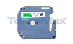BROTHER P-TOUCH TAPE BLACK/GREEN (1/2 X 26) (M731)