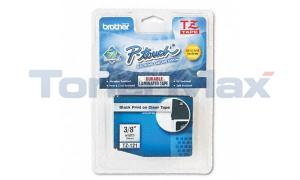BROTHER TZ TAPE CTG BLACK ON CLEAR 3/8 WIDTH (TZ-121)