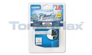 BROTHER TZ TAPE CTG WHITE ON CLEAR 1/2 WIDTH (TZ-135)