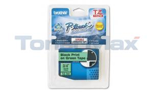 BROTHER TAPE FOR PT-200/300 BLACK ON GREEN 3/4IN (TZ-741)