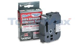 BROTHER TZ EXTRA-STRENGTH TAPE BLACK/SILVER 1IN (TZ-S951)