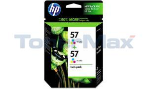 HP NO 57 INK CARTRIDGE TRI-COLOR TWIN-PACK (C9320FN#140)