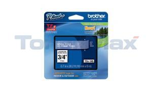 BROTHER TZ LAMINATED TAPE WHITE ON CLEAR 0.7 IN X 26.2 FT (TZE-145)
