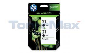 HP NO 21 INKJET PRINT CARTRIDGES BLACK TWIN-PACK (C9508FN)