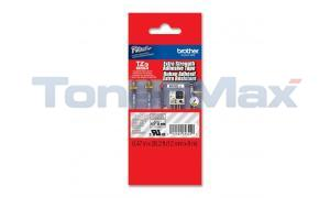 BROTHER TZ LAMINATED TAPE WHITE ON CLEAR 12 MM X 8 M (TZE-S135)