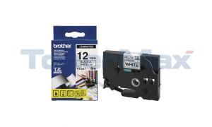 BROTHER P-TOUCH TAPE BLACK/WHITE (1/2 X 26) (TZ-231)