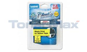 BROTHER P-TOUCH TAPE BLACK/YELLOW (1 X 26) (TZ-651)