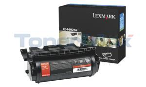 LEXMARK X644E PRINT CART BLACK 21K (X644H21A)