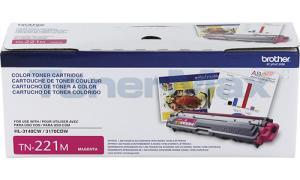 BROTHER MFC-9330CDW TONER CARTRIDGE MAGENTA 1.4K (TN-221M)