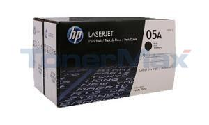 HP NO 05A TONER CART BLACK DUAL PACK (CE505D)