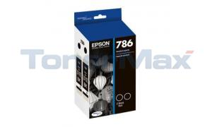 EPSON DURABRITE ULTRA 786 INK CARTRIDGE BLACK DUAL PACK (T786120-D2)